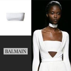 BALMAIN x H&M bandeau crop top SZ 6